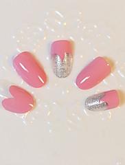 1Nastavte pink love umělé nehty tipy false