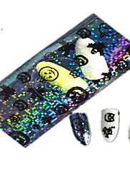 1ks 100 * 4 cm transparentní dýně duch krásné aminal obraz na nehty umění třpytky samolepky zdobení nehtů hw01-04