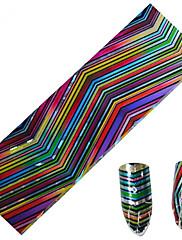 1ks 100 * 4 cm nail art přenosu třpytky samolepky kutilství geometrický magický barevný proužek vlna obraz nail art designu cs05-08