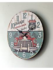 retro Ostatní Nástěnné hodiny,Kulatý Dřevo 35*35CM Vevnitř Hodiny