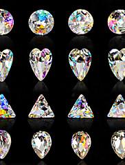 10ks nail art luxusní sedm barev hra duhovými barvami cizí ab diamant 16 stylu volitelně