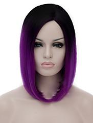 cosplay paruky černá spád mělký fialové paruky body bobo krátká paruka 12 palců