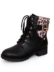 Boty-Syntetika Lakovaná kůže Koženka-Módní boty Motorkářské boty Pracovní obuv Boty s kolečky Kombat boty Novinky Kovbojské Sněhule