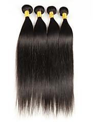 Lidské vlasy Vazby Malajské vlasy Proste 4 kusy Vazby na vlasy