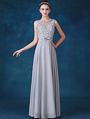 Formální večerní šaty - elegantní šperk s dlouhým šifonem se šňůrovou šňůrkou s lukem