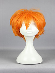 人気の新アニメ超haikyuu !!逍遥日向30センチメートル短いオレンジ色のファッション高品質コスプレウィッグ