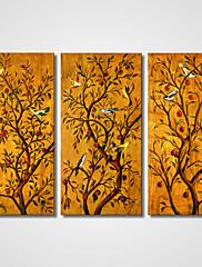 キャンバスセット / アンフレームキャンバスプリント 静物画 / 動物 Modern / リアリズム,3枚 キャンバス 横長 版画 壁の装飾 For ホームデコレーション