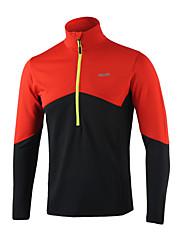 ARSUXEO Men's  Long Sleeve Half Zipper Run Top Training Jersey