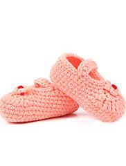 女の子用 赤ちゃん-カジュアル-ベルベット-フラットヒール-赤ちゃん用靴-フラット-グリーン ピンク