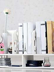 近代的なホワイトウォーターキューブ柄デスクトップ本棚