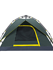 Makino 3-4 persons Tent Triple Camping Tent 2000-3000 mm Oxford Waterproof Breathability Quick Dry-Hiking Camping Outdoor-Army Green