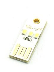 Luz led criativa do teclado do teclado do computador com luz de energia móvel branca ou branca fria
