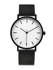 Casal Relógio de Moda Quartzo Impermeável Lega Banda Preta