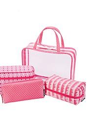 Ženy Skladovací taška PVC Celý rok Ležérní Bageta Zip Fuchsiová