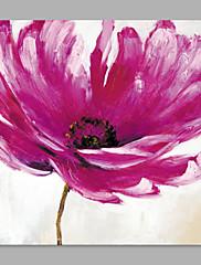 Hånd-malede Blomstret/Botanisk Kunstnerisk Et Panel Kanvas Hang-Painted Oliemaleri For Hjem Dekoration