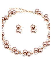 Dámské Sady šperků Svatební šperky Soupravy İnci Kolyeler Imitace perly imitace drahokamu Módní Euramerican KlasickýNapodobenina perel