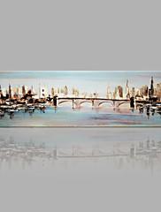 Ručně malované Abstraktní krajinka jakýkoliv tvar,Ostatní Jeden panel Plátno Hang-malované olejomalba For Home dekorace