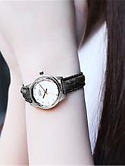Mulheres Relógio de Moda Quartzo Impermeável PU Banda Preta Branco Azul Marrom