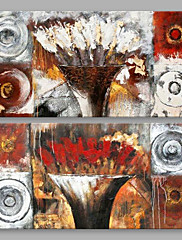 Hånd-malede Abstrakt Horisontal,Kunstnerisk To Paneler Kanvas Hang-Painted Oliemaleri For Hjem Dekoration