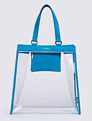 Unisex Skladovací taška PVC Celý rok Ležérní Bageta Zip Vodní modrá Rubínově červená Světlá růžová