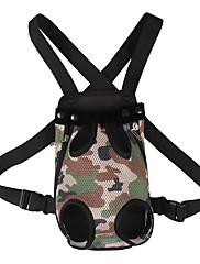 ネコ 犬 キャリーバッグ フロントバックパック ペット用 キャリア 調整可能/引き込み式 携帯用 ファッション 迷彩色