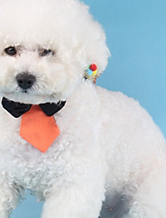 Cachorro Gravata/Gravata Borboleta Roupas para Cães Fashion Sólido Branco Laranja Verde