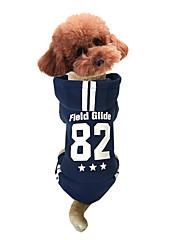 Cachorro Camisola com Capuz Roupas para Cães Esportes Carta e Número Preto Cinzento Rosa claro
