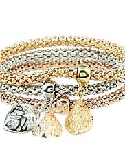 Dámské Kotníkové náramky Diamant Zvířecí Punkový styl Rock luxusní šperky Kov Štras Slitina Circle Shape Leaf Shape Šperky ProPárty Denní