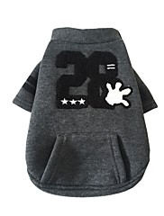 Hund Sweatshirt Hundetøj Afslappet/Hverdag Dyr Grå Gul Lys pink