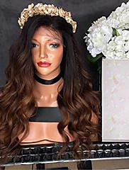 Ombre cor laço frente cabelo humano peruca corpo onda com bebê cabelo 100% não processado brasileiro virgem cabelo glueless peruca de