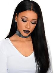 Silke lige 360 blonder frontal parykker med baby hår 10 '' - 24 '' peruanske 360 blonder parykker til afrikanske amerikanere 180%