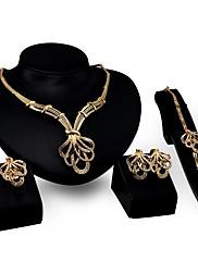 Dame Halskædevedhæng Rhinsten Mode Personaliseret Rhinsten Guldbelagt Legering Blomstformet Geometrisk form Smykker Til Fest Forlovelse