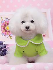 犬 ドレス 犬用ウェア カジュアル/普段着 純色 レッド グリーン