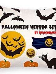 Stk. Bomuld Moderne / Nutidig Nyskabende Puder,Trykt mønster Mønster Moderne / Nutidig Halloween