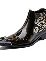 Pánské Obuv Nappa Leather Podzim Zima Pohodlné Novinky Módní obuv Boty Kotníčkové Nýty Šněrování Pro Party Černá