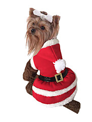 Cachorro Fantasias Roupas para Cães Natal Sólido Vermelho