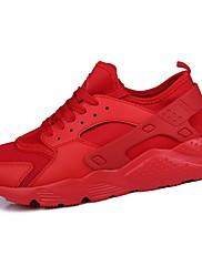 Pánské Obuv PU Jaro Podzim Pohodlné Atletické boty Šněrování Pro Sportovní Bílá Černá Červená