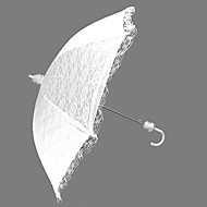 "Wedding Lace Umbrella Hook Handle 29.5""(Approx.75cm) Plastic 35.4""(Approx.90cm)"