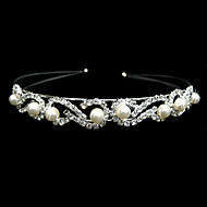 Gorgeous Clear Crystals And Imitation Pearls Bridal Tiara/ Headpiece/ Headband