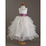 CAMERON - kjole til blomsterpige i organza og satin
