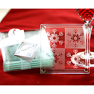 sneeuwvlok coasters (set van 2)