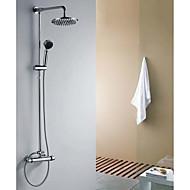 doccia rubinetto contemporanea con soffione doccia da 8 pollici + doccia a mano