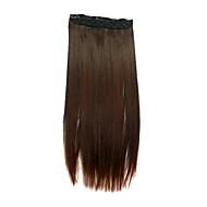 24 Inch Brown Staight Clip-In Hair Extension