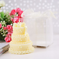 Wedding cake candles in Yellow(set of 4)