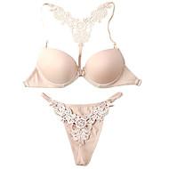 Cotton Demi Cup Adjustable Straps Front Closure Wedding/ Party Underwear Set More Colors Available