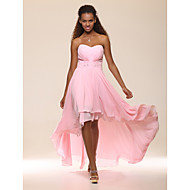 Prom / Formal Evening Dress - Plus Size / Petite A-line / Princess Strapless / Sweetheart Floor-length / Asymmetrical Chiffon