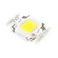 DIY 10W 750-850LM 6000-6500K Natural White Light Square LED Emitter (3 Series 3 In Parallel, 30-33V)