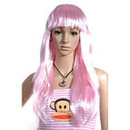 Capless Long Straight Fans Costume Party Festival Hair Wig