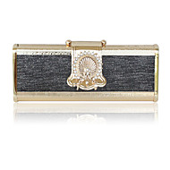 Stainless Steel Shell With Rhinestone Evening Handbags/ Clutches More Colors Available