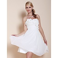 TS Couture® Cocktail Party / Graduation Dress - Short Plus Size / Petite A-line / Princess Strapless / Sweetheart Knee-length Chiffon with Beading